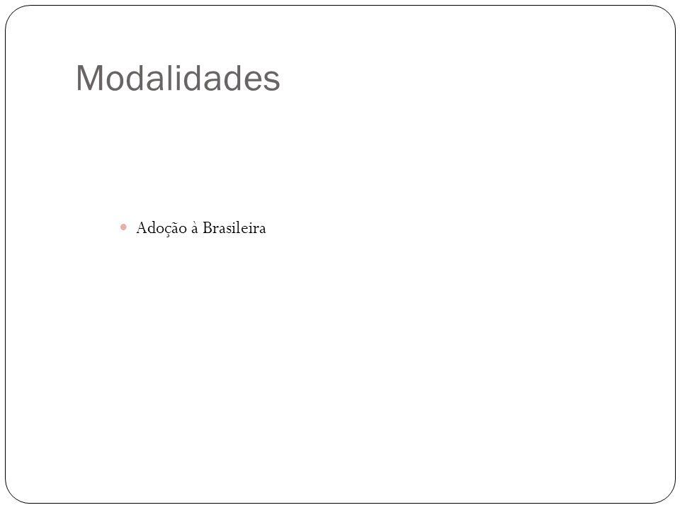 Modalidades Adoção à Brasileira