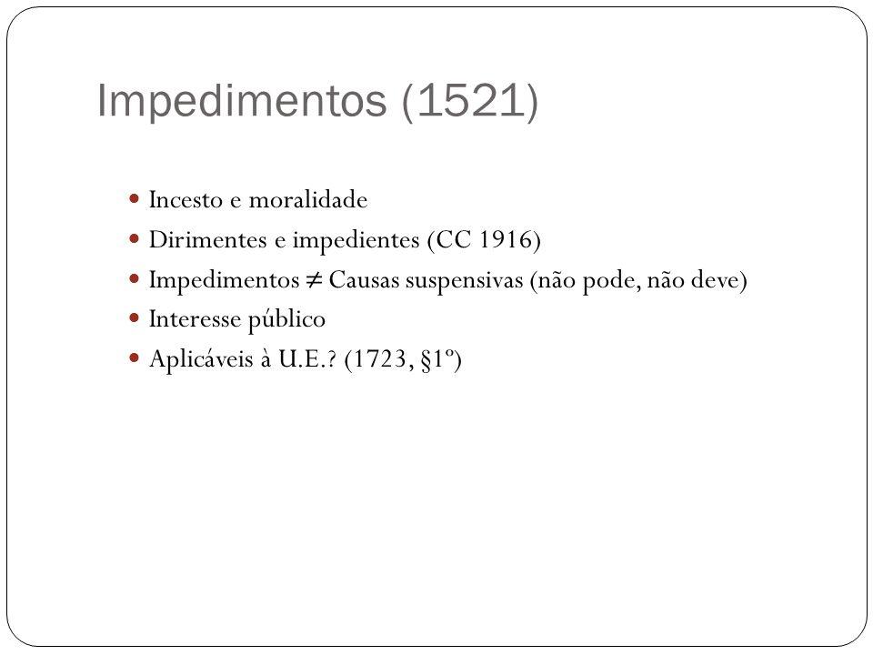 Impedimentos (1521) Incesto e moralidade