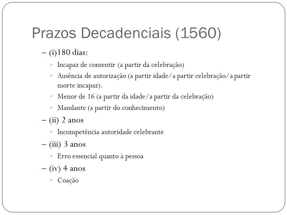 Prazos Decadenciais (1560)