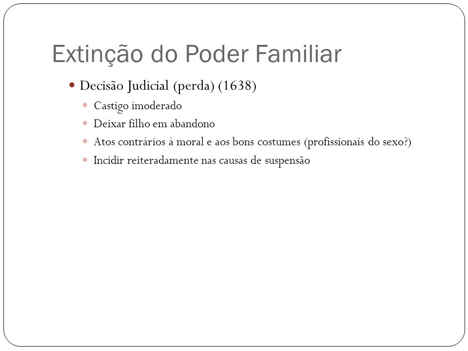 Extinção do Poder Familiar