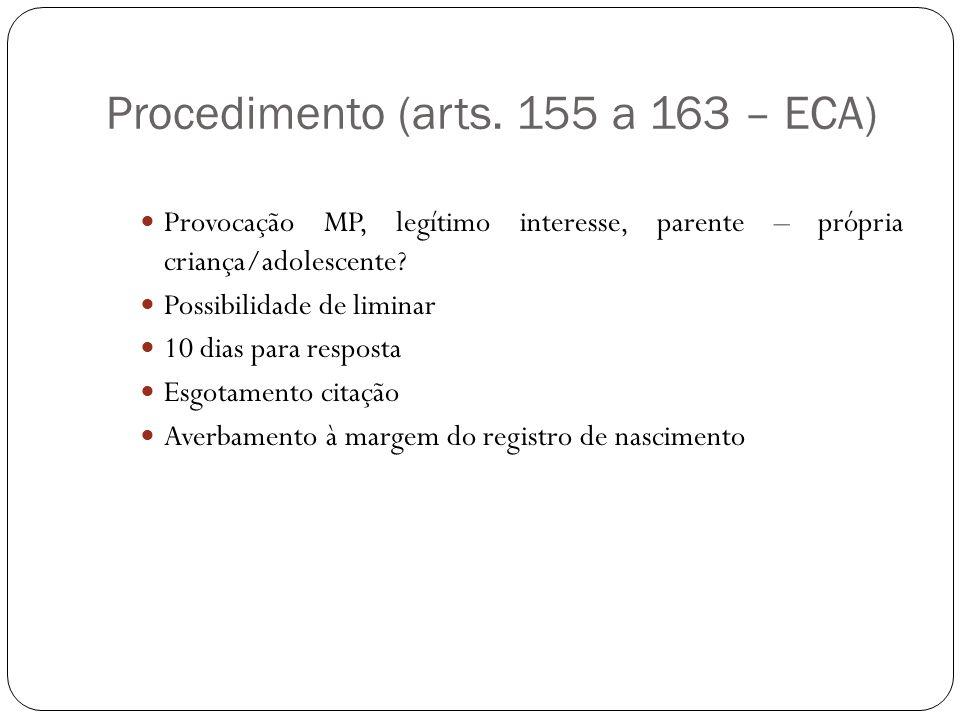 Procedimento (arts. 155 a 163 – ECA)