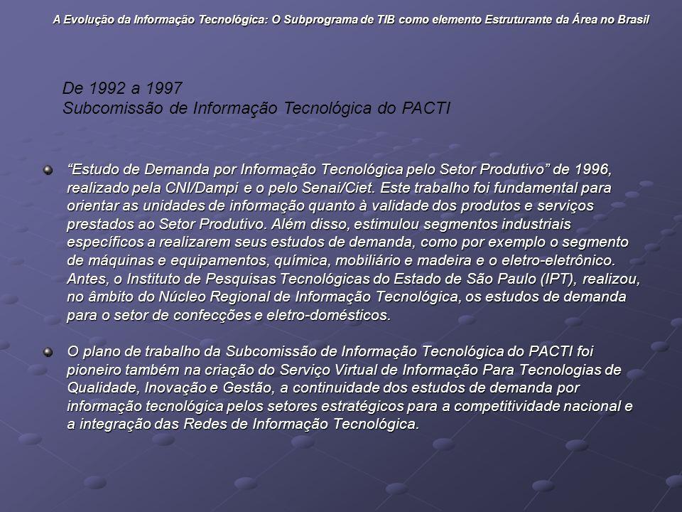 Subcomissão de Informação Tecnológica do PACTI