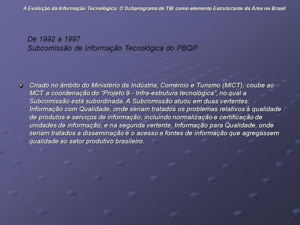 Subcomissão de Informação Tecnológica do PBQP