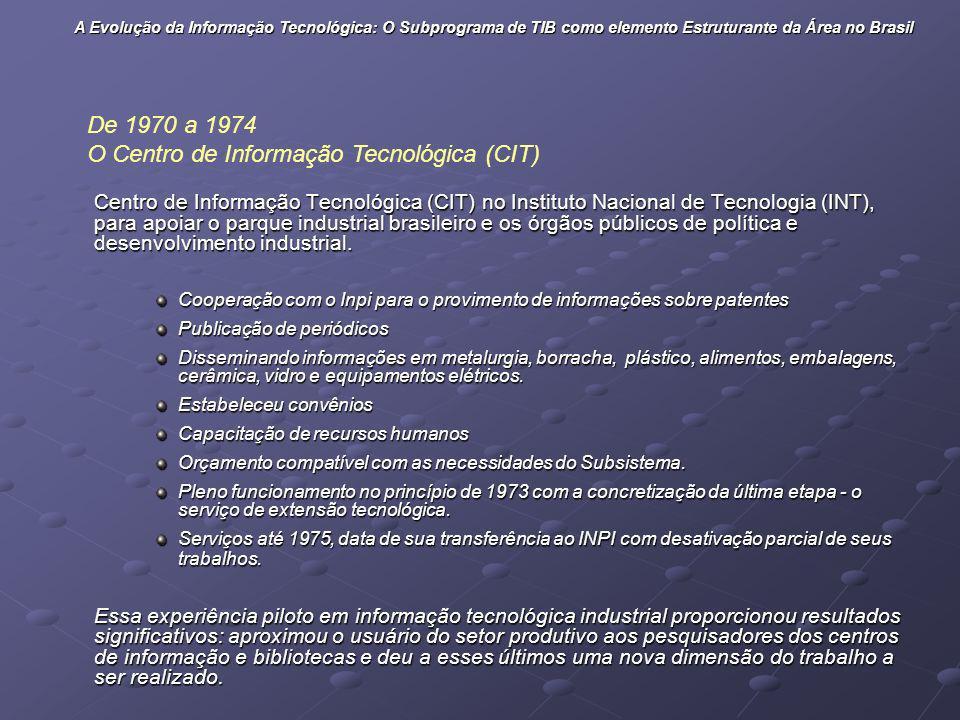 O Centro de Informação Tecnológica (CIT)