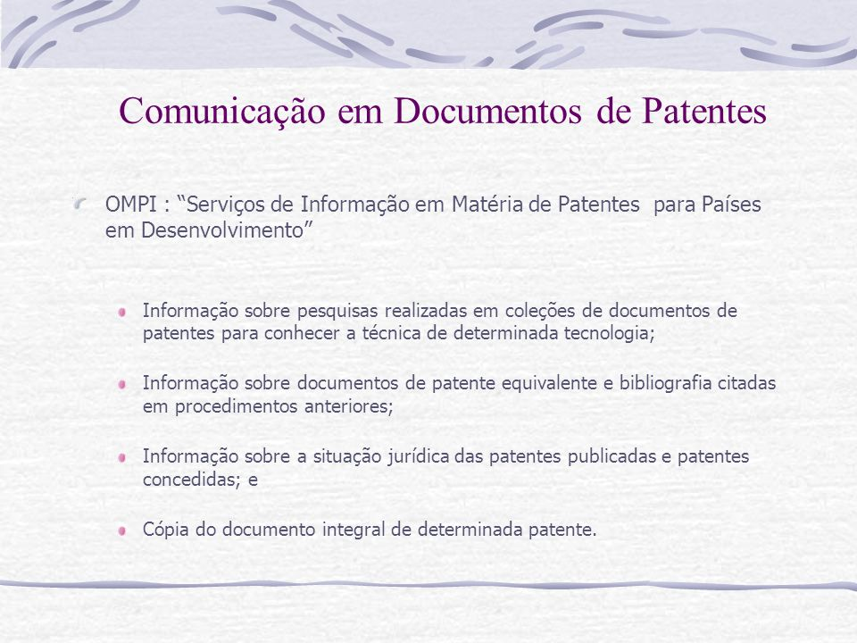 Comunicação em Documentos de Patentes