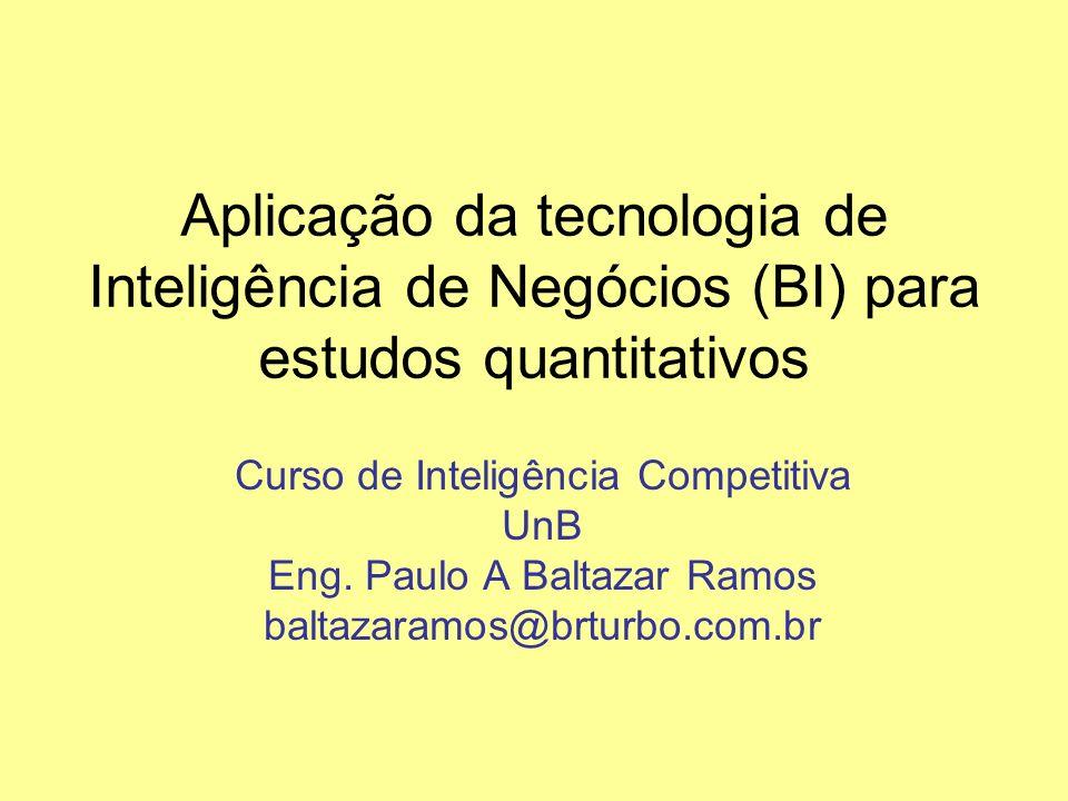 Aplicação da tecnologia de Inteligência de Negócios (BI) para estudos quantitativos