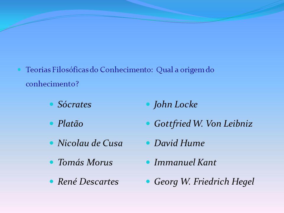 Gottfried W. Von Leibniz Nicolau de Cusa David Hume Tomás Morus