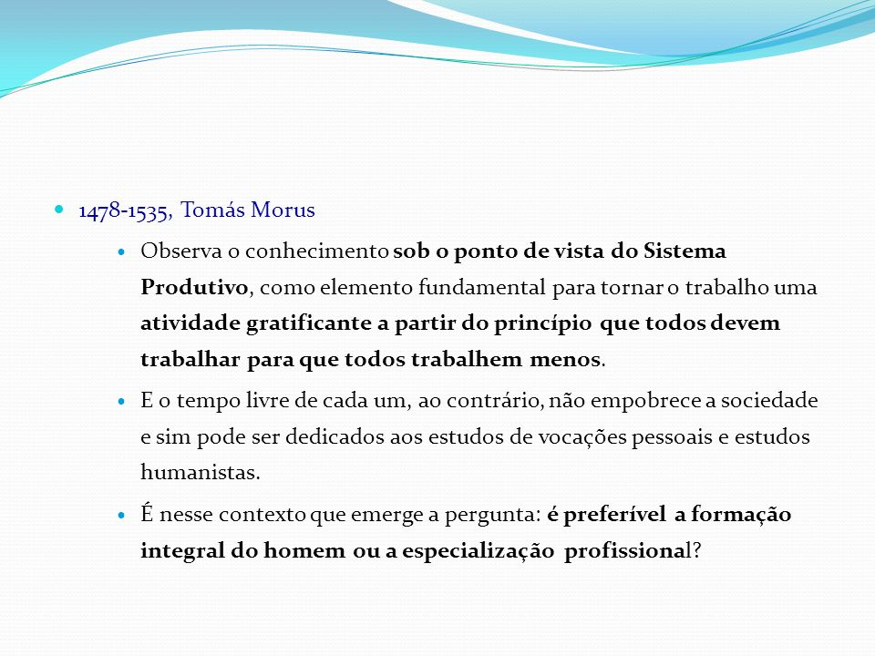 1478-1535, Tomás Morus