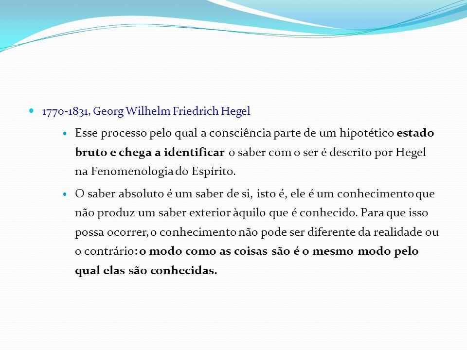 1770-1831, Georg Wilhelm Friedrich Hegel