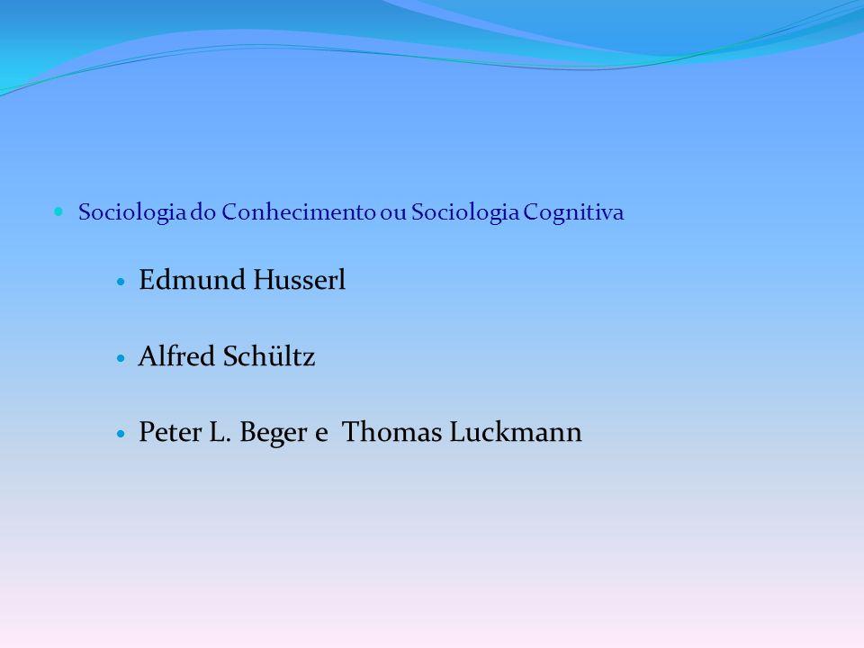 Peter L. Beger e Thomas Luckmann