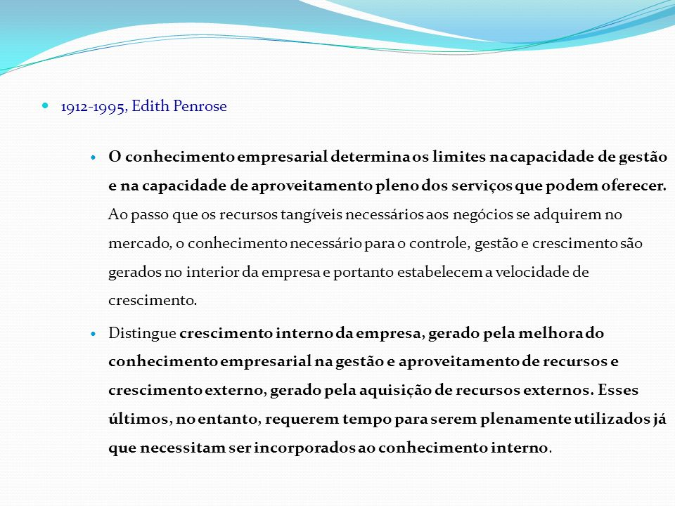 1912-1995, Edith Penrose