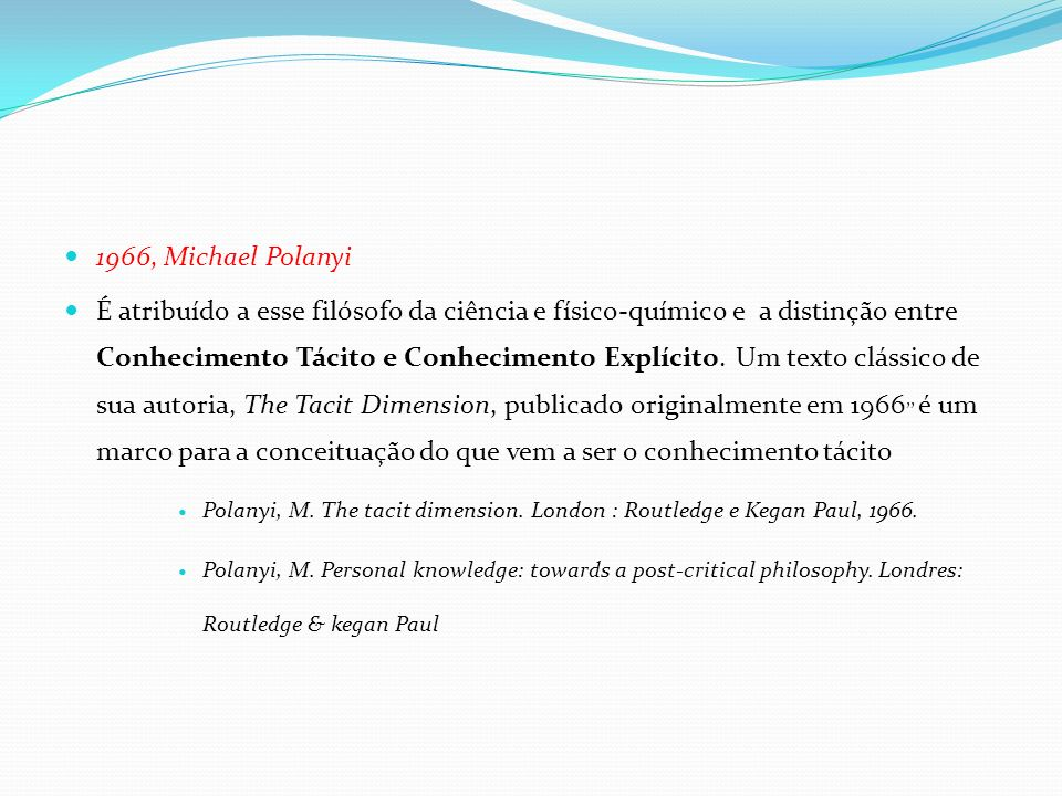 1966, Michael Polanyi