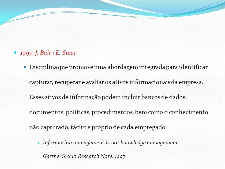 1997, J. Bair ; E. Stear