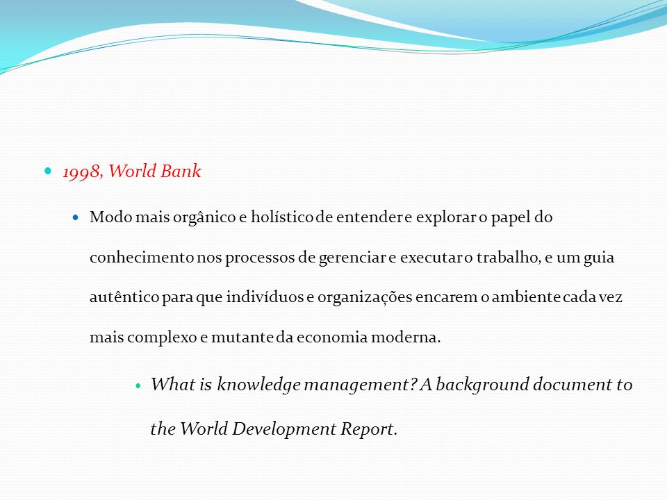 1998, World Bank