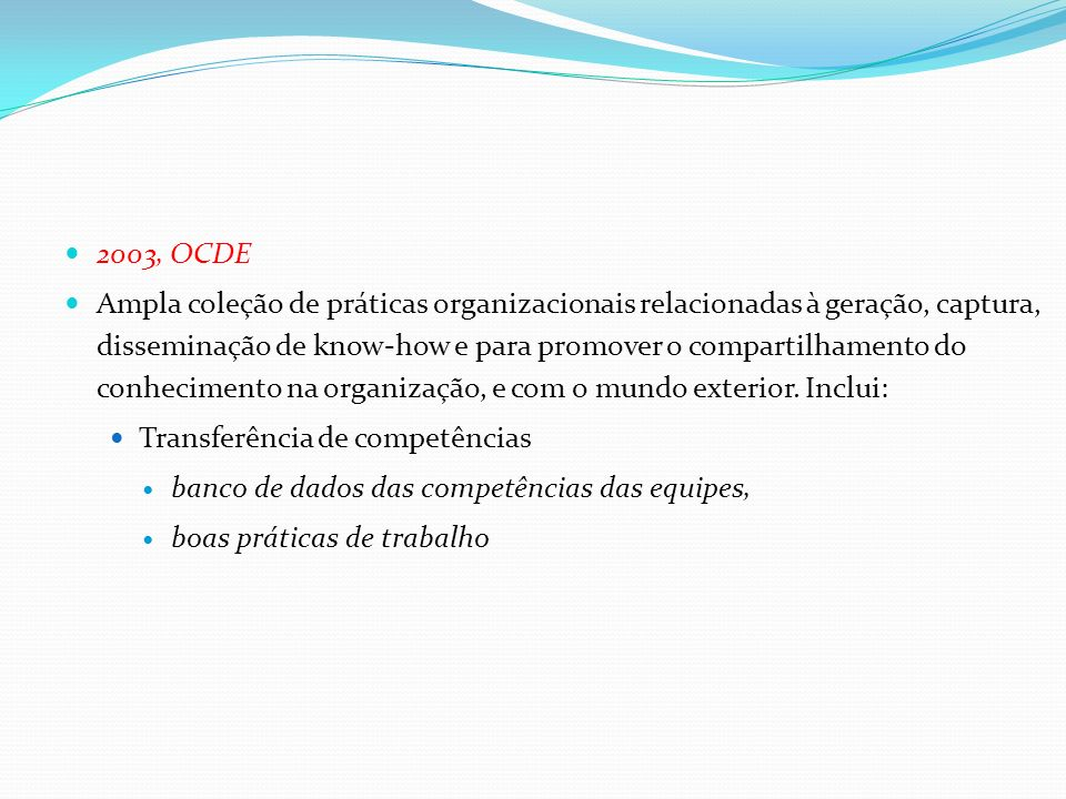 2003, OCDE