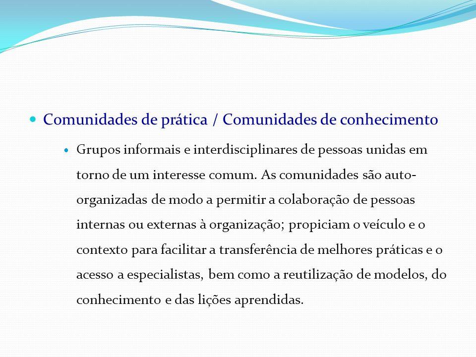 Comunidades de prática / Comunidades de conhecimento
