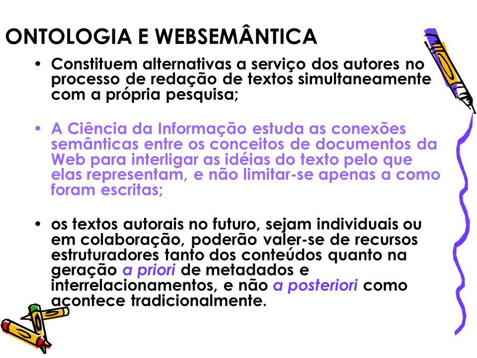 ONTOLOGIA E WEBSEMÂNTICA