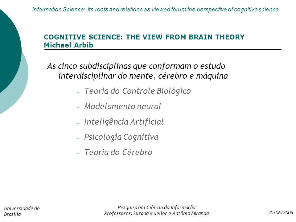 Teoria do Controle Biológico Modelamento neural