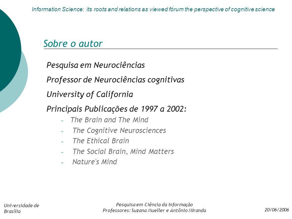 Sobre o autor Pesquisa em Neurociências