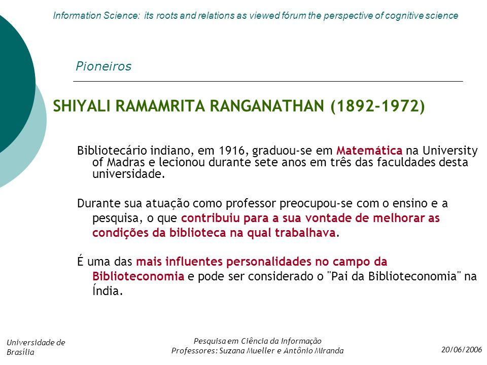 SHIYALI RAMAMRITA RANGANATHAN (1892-1972)