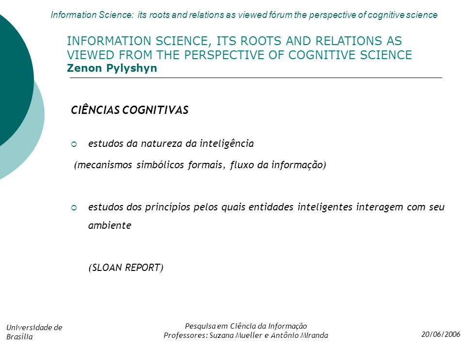 INFORMATION SCIENCE, ITS ROOTS AND RELATIONS AS