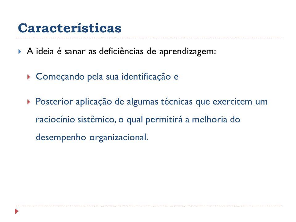 Características A ideia é sanar as deficiências de aprendizagem: