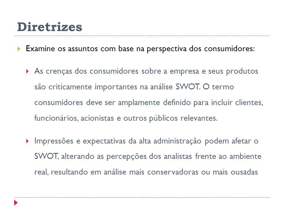 Diretrizes Examine os assuntos com base na perspectiva dos consumidores: