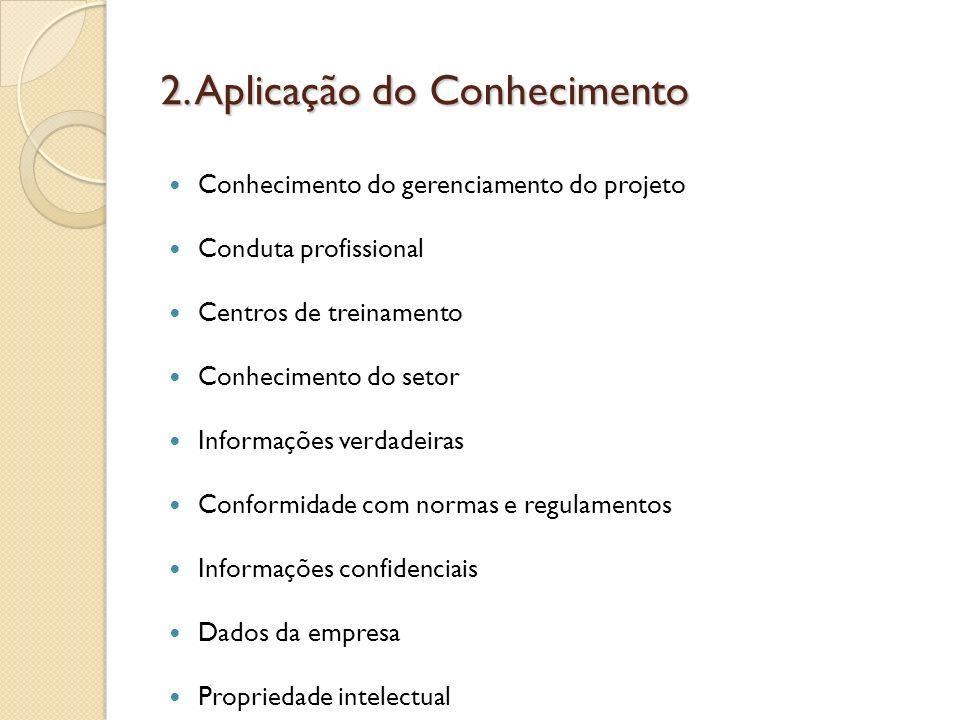 2. Aplicação do Conhecimento