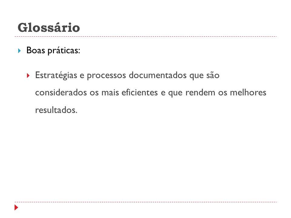 Glossário Boas práticas: