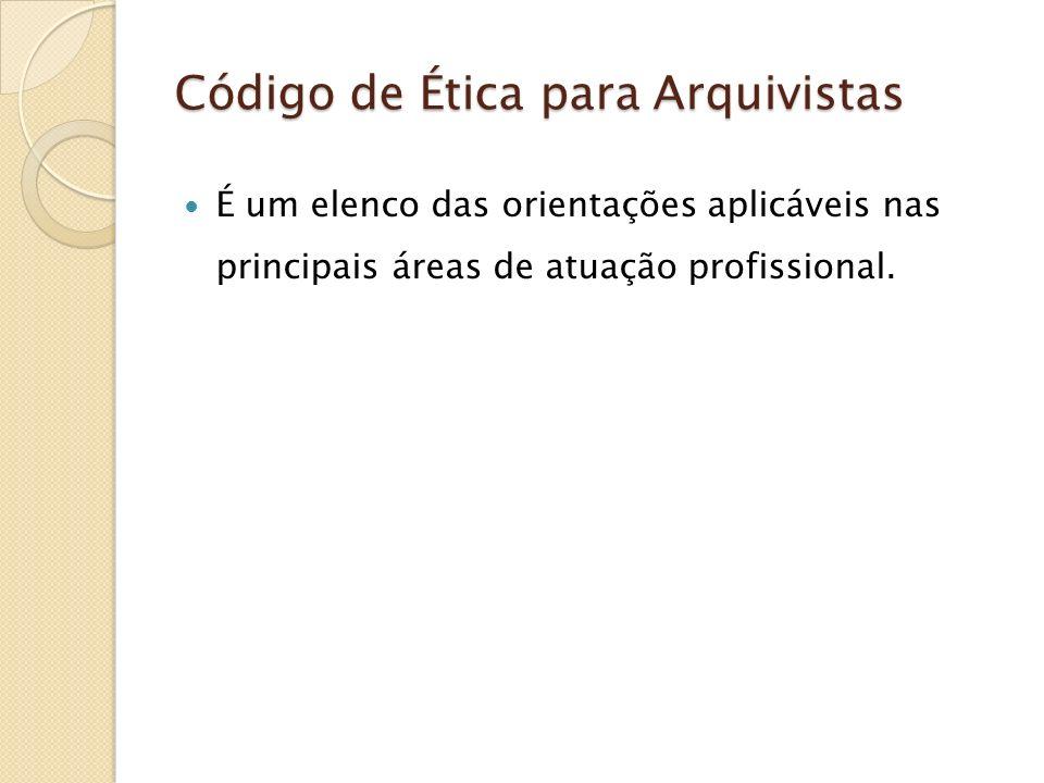 Código de Ética para Arquivistas