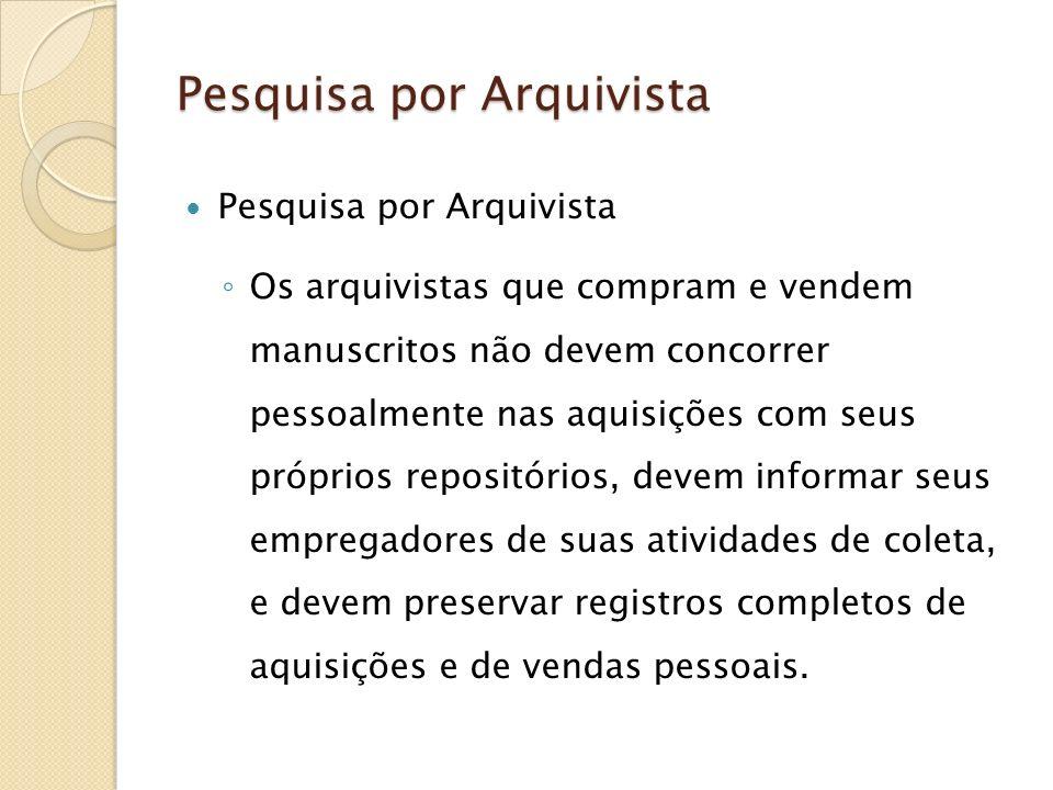 Pesquisa por Arquivista