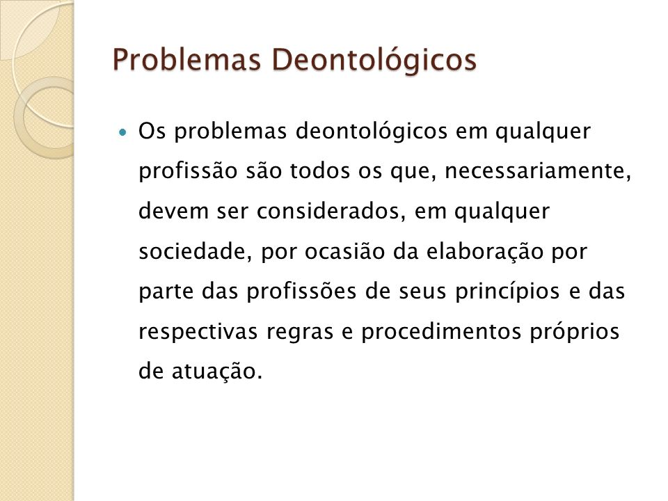 Problemas Deontológicos