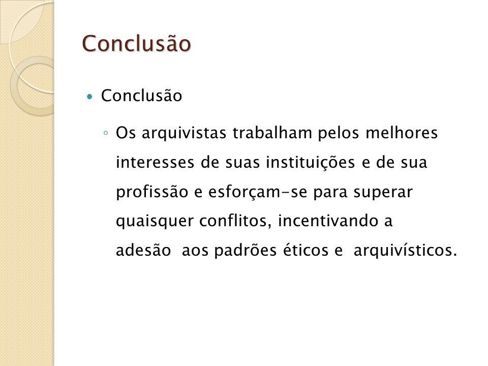 Conclusão Conclusão