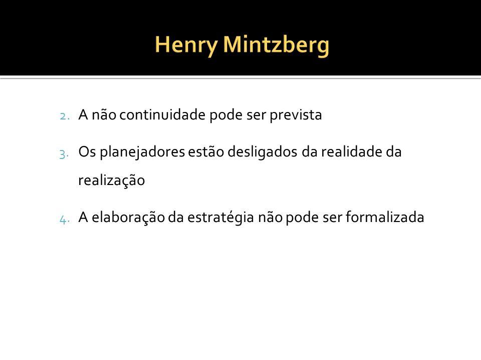 Henry Mintzberg A não continuidade pode ser prevista