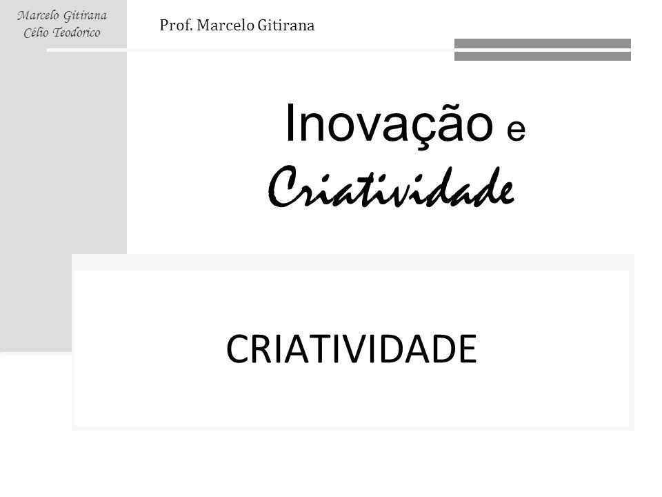 CRIATIVIDADE Prof. Marcelo Gitirana Links:
