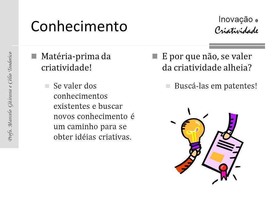 Conhecimento Matéria-prima da criatividade!