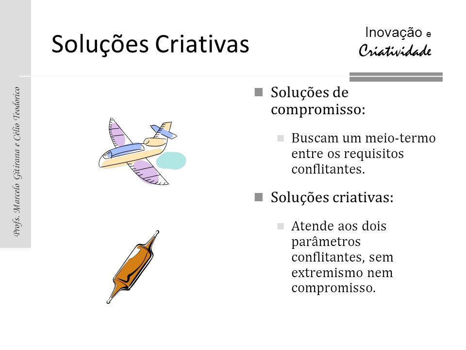 Soluções Criativas Soluções de compromisso: Soluções criativas: