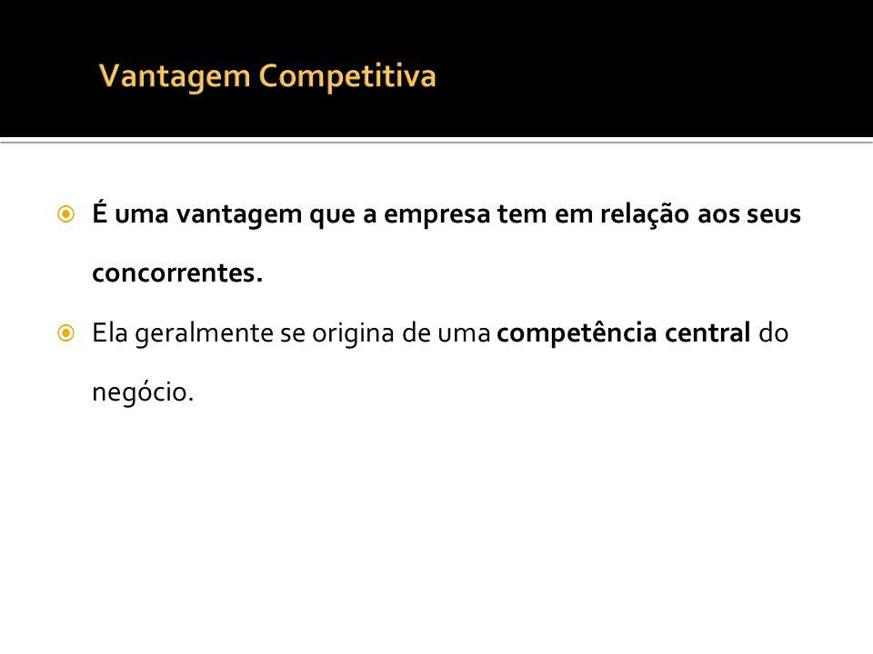 Vantagem CompetitivaÉ uma vantagem que a empresa tem em relação aos seus concorrentes.