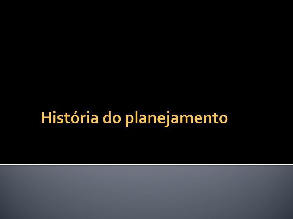 História do planejamento