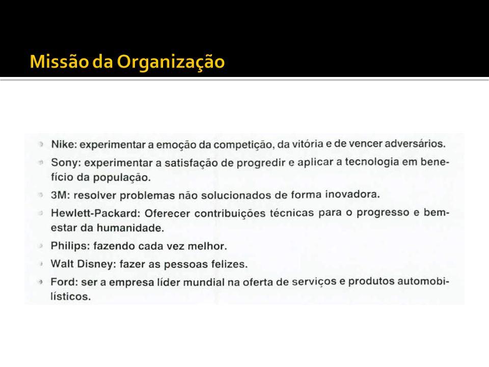 Missão da Organização