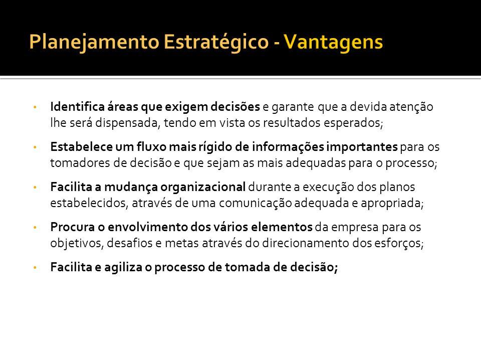 Planejamento Estratégico - Vantagens