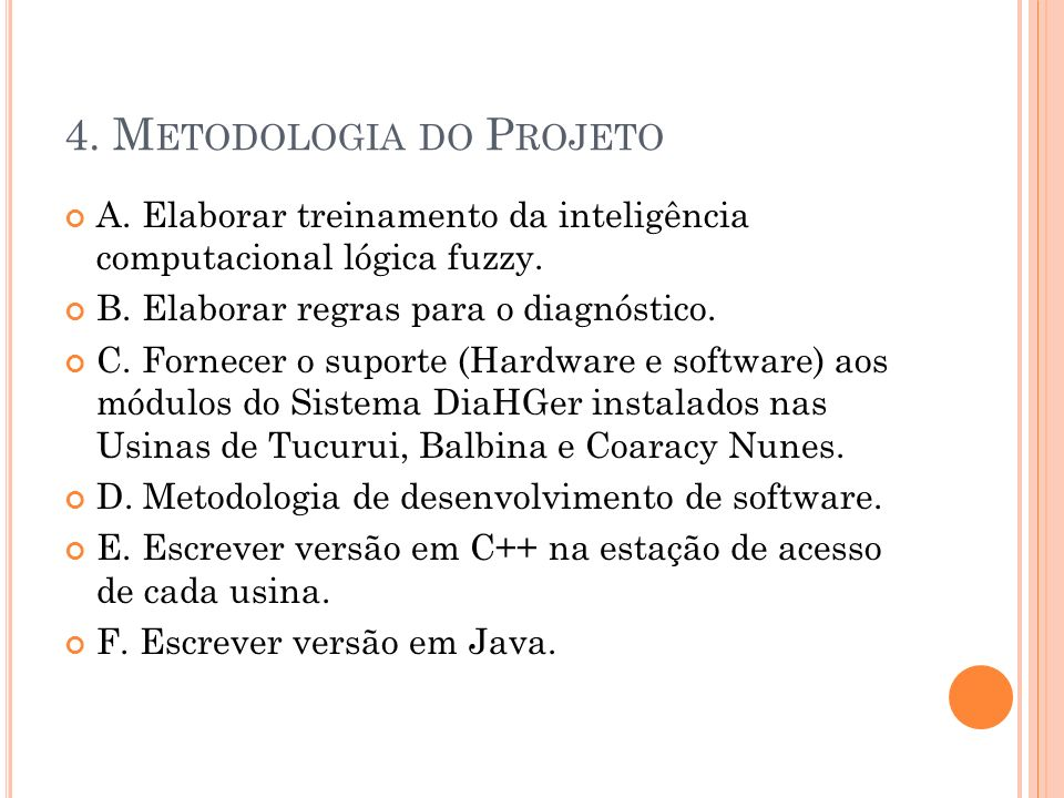 4. Metodologia do Projeto