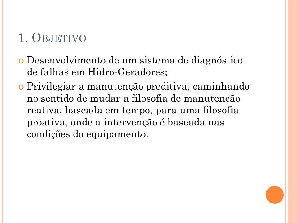 1. Objetivo Desenvolvimento de um sistema de diagnóstico de falhas em Hidro-Geradores;
