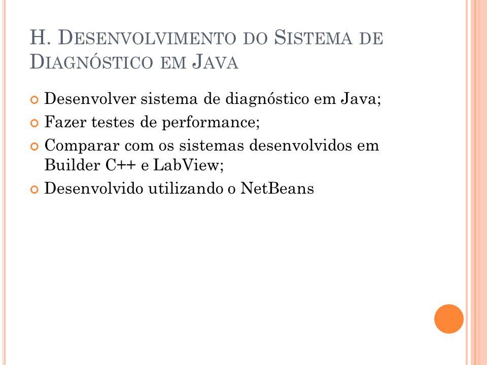 H. Desenvolvimento do Sistema de Diagnóstico em Java