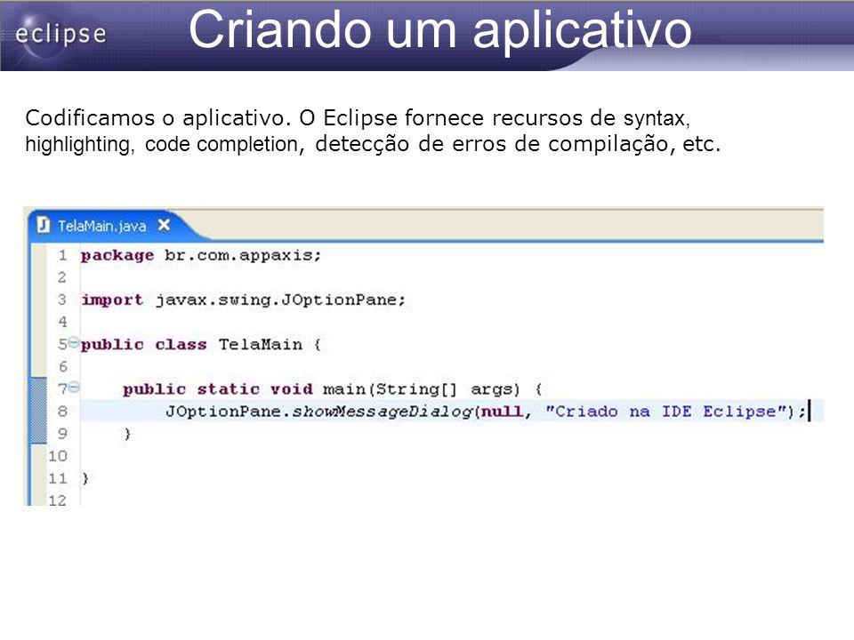 Criando um aplicativo