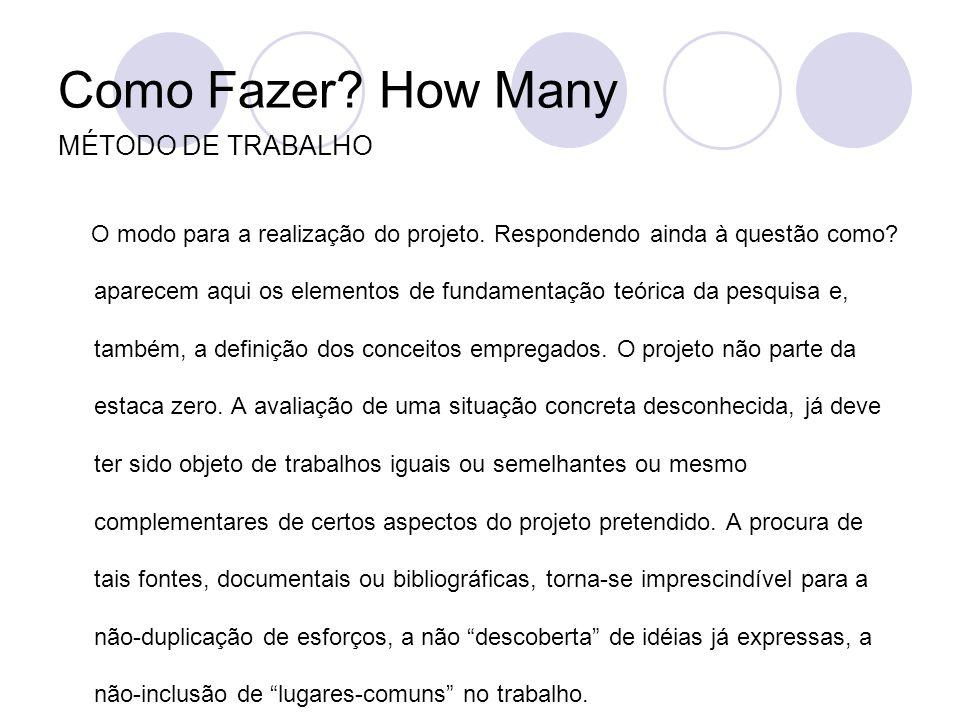 Como Fazer How Many MÉTODO DE TRABALHO