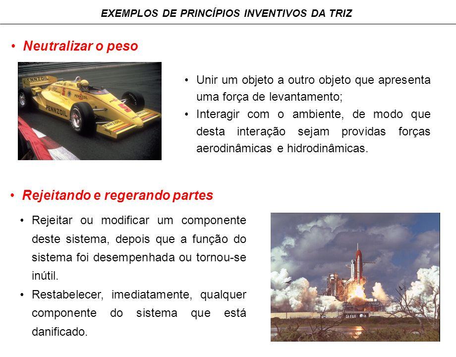 EXEMPLOS DE PRINCÍPIOS INVENTIVOS DA TRIZ