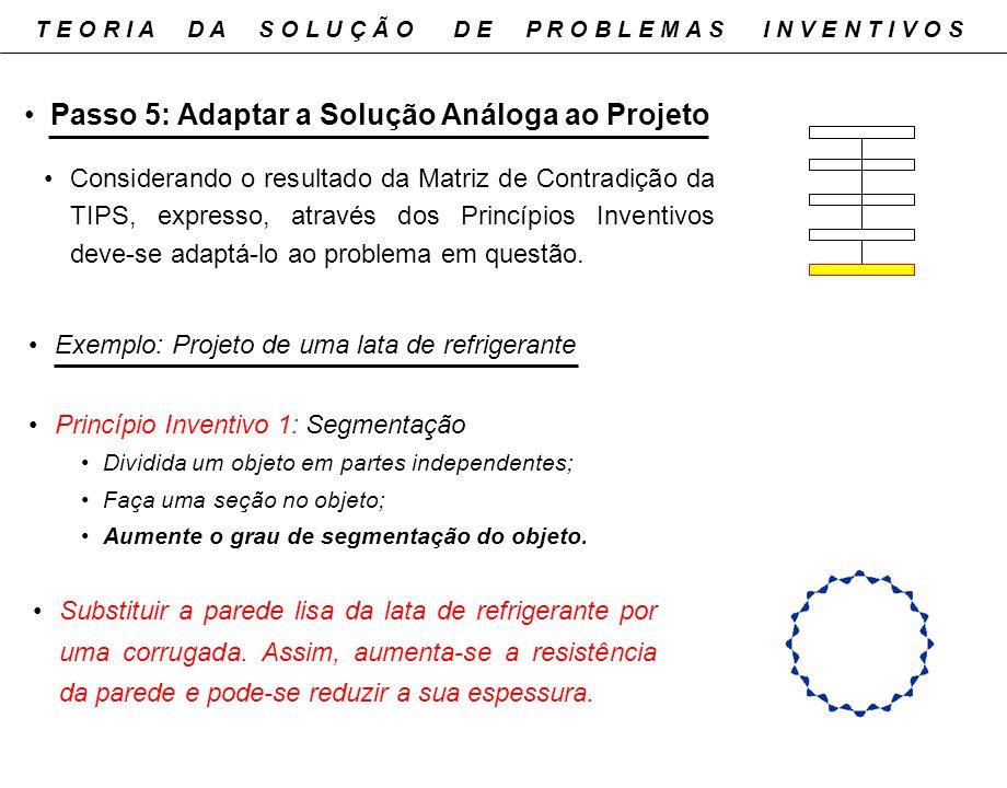 Passo 5: Adaptar a Solução Análoga ao Projeto