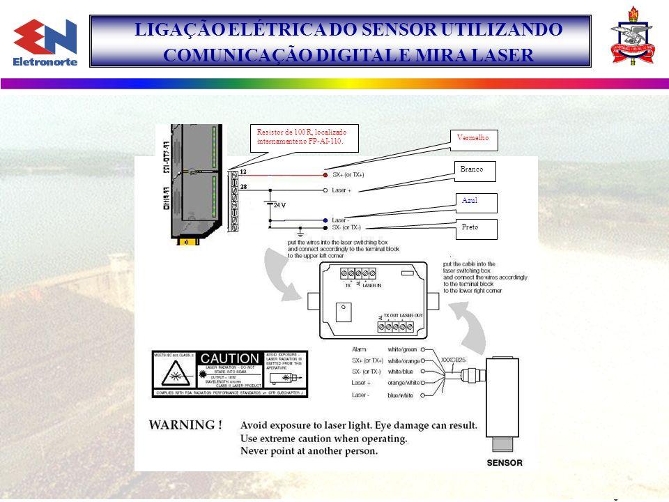 LIGAÇÃO ELÉTRICA DO SENSOR UTILIZANDO COMUNICAÇÃO DIGITAL E MIRA LASER