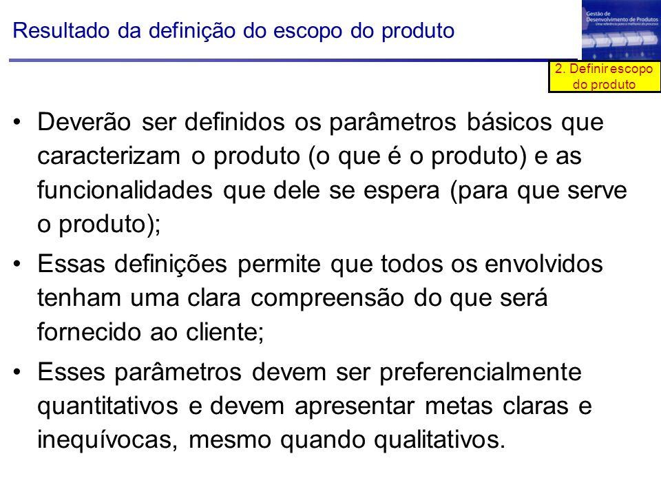 2. Definir escopo do produto